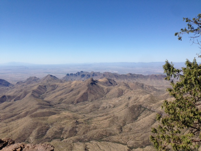 View from the South Rim Trail of Big Bend National Park.